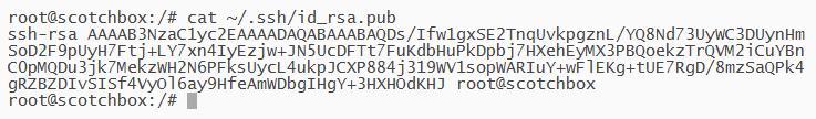 Imprimir llave publica en ubuntu