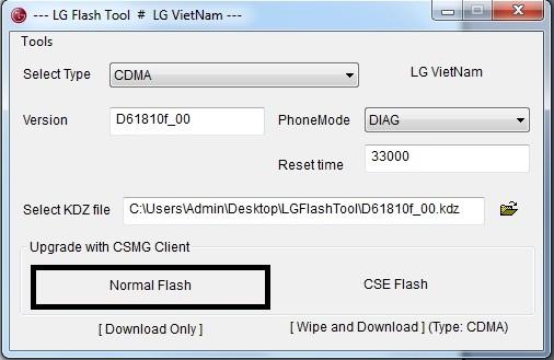 LG Flash Tool - Procedimiento seguido