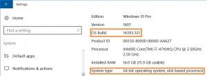 Encontrar la version y arquitectura de Windows 10