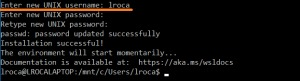 Configuración del nombre de usuario y contraseña