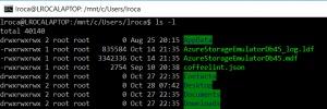 Listar contenidos de una carpeta usando el Bash de Ubuntu en Windows