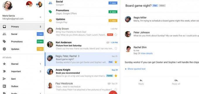 actualización de Gmail en iOS