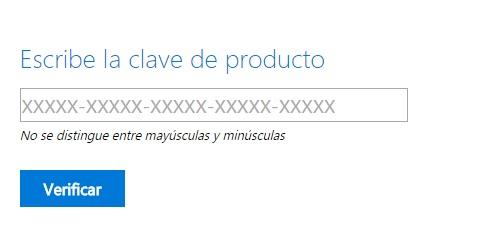 Verificar clave producto Windows7