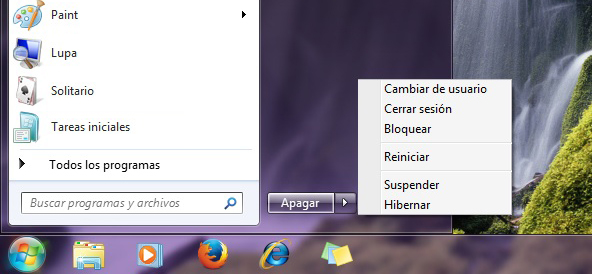Suspender Hibernar Windows 7
