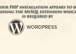 Mssing MySQL extension WordPress