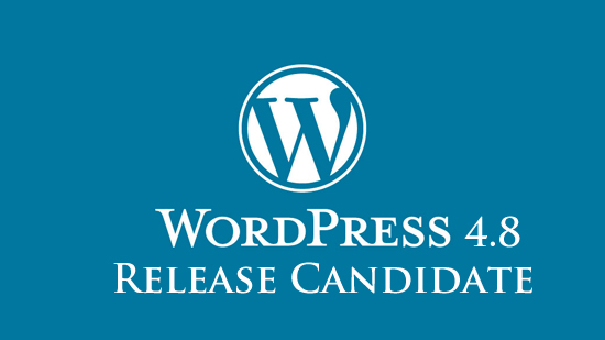 WordPress 4.8 RC
