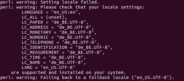 Error de locale en Ubuntu