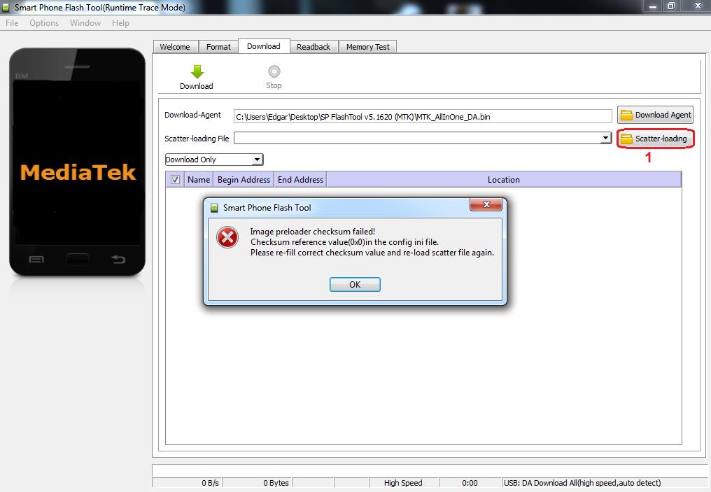 Error Checksum Failed
