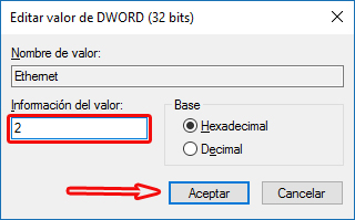 Habilitando uso medido ethernet - Windows 10