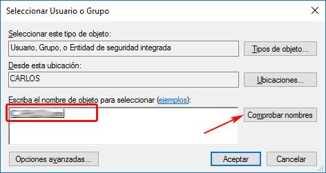 Seleccionar usuario propietario de la clave de registro protegida - Windows 10