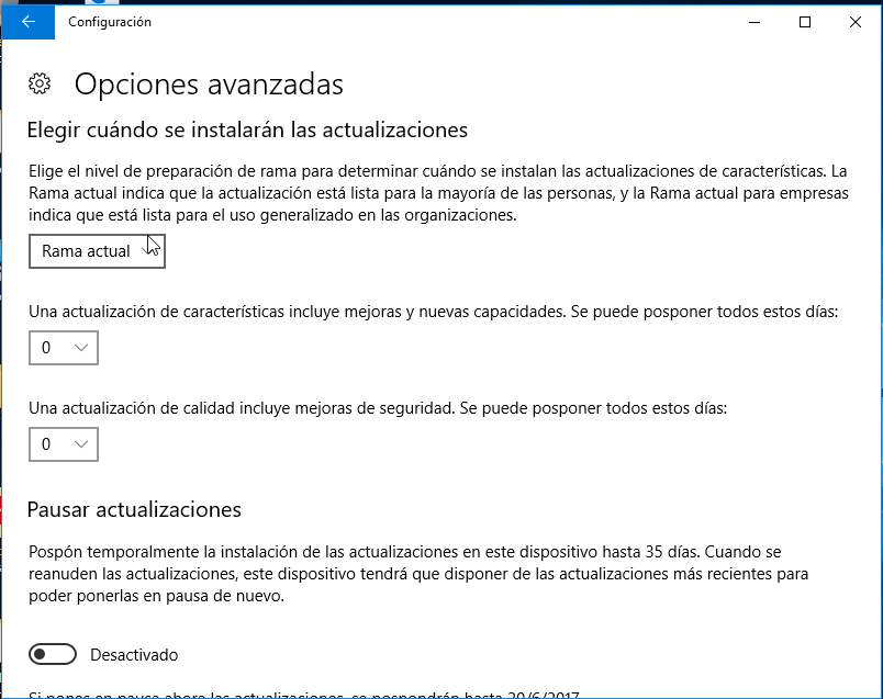 Mejoras en Windows Update - Windows 10