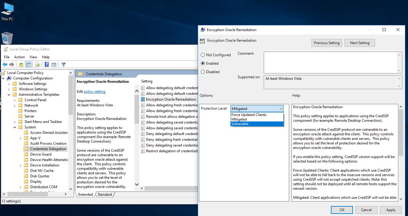 Editor de Políticas de Grupo Windows 10 Pro - Parte 1