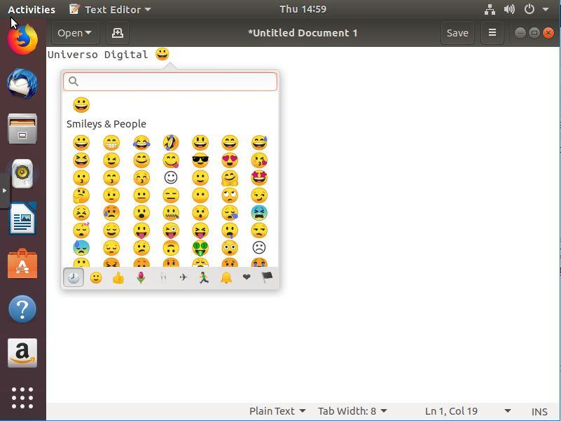Emojis en Ubuntu 18.04