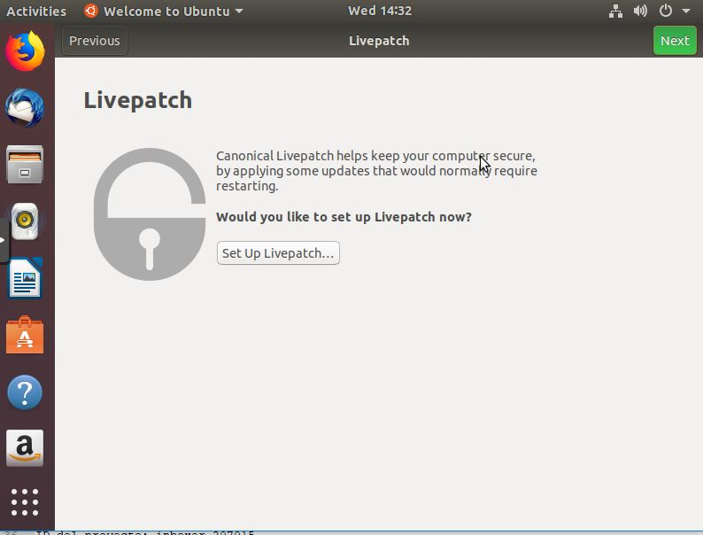 Canonical Livepatch Ubuntu 18.04